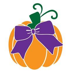 Fall Pumpkin & Bow print art