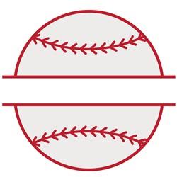 Baseball Split Name Drop print art