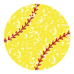 Distressed Softball print art