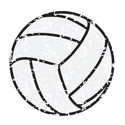 Distressed Volleyball print art