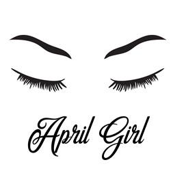 April Girl print art
