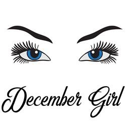 December Girl Eyes print art