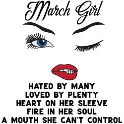 March Girl print art