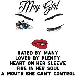 May Girl print art
