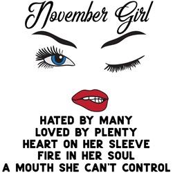 November Girl print art