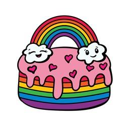 Rainbow Cake print art