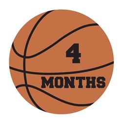 4 Months Basketball print art