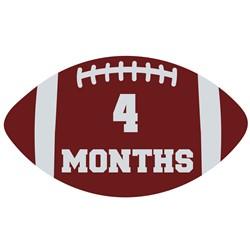 4 Months Football print art