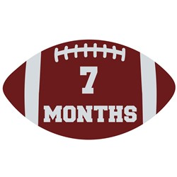 7 Months Football print art