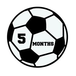 5 Months Soccer print art