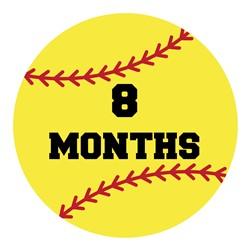 8 Months Softball print art