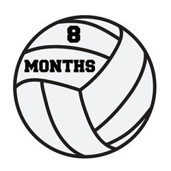 8 Months Volleyball print art