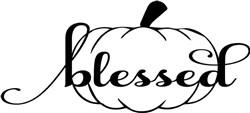 Blessed Pumpkin print art