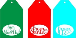 Christmas Gift Tags print art