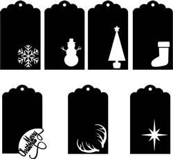 christmas tags print art