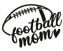 football mom - heart print art