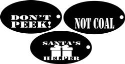 funny christmas tags print art