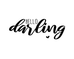 Hello Darling print art