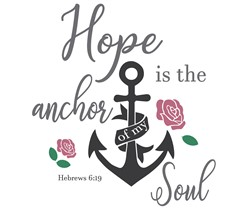 Hope Anchors The Soul print art