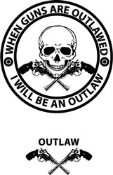 I Will Be An Outlaw print art