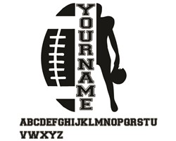 Football Name Drop print art