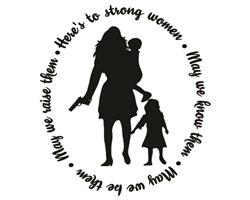 strong women print art