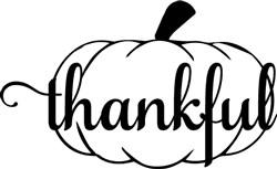 thankful - pumpkin print art
