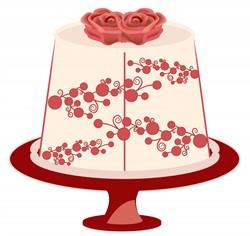 Cake Art Printer : Floral Cake print art Foods print art at EmbroideryDesigns.com