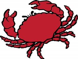 Red Crab print art