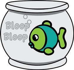 Bloop Bloop Fish print art