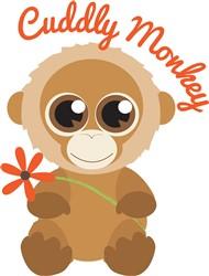 Cuddly Monkey print art