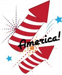 America Fireworks print art