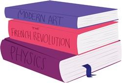 School Books print art