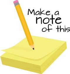 Make A Note print art