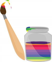 Rainbow Paint print art