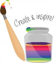 Create & Inspire print art