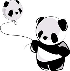 Panda With Balloon print art