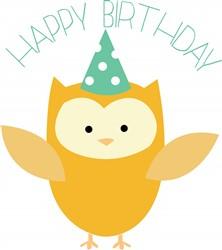 Birthday Owl print art