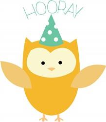Hooray Owl print art