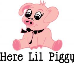 Here Lil Piggy print art