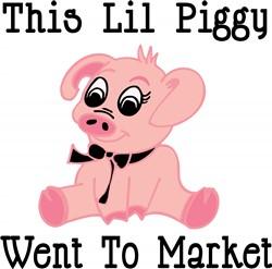 This Lil Piggy print art