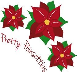 Pretty Poinsetias print art