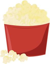 Bucket Of Popcorn print art