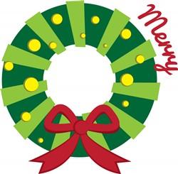Merry Wreath print art