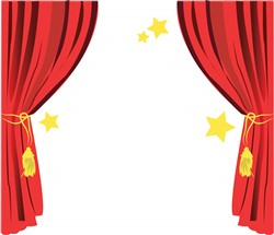 Stage Curtain print art