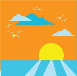 Sunset print art