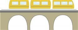 Train On Bridge print art