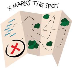 X Marks Spot print art