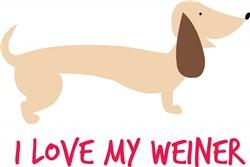 Love My Weiner print art