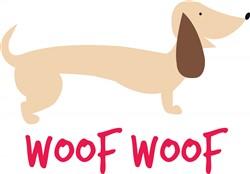 Woof Woof print art
